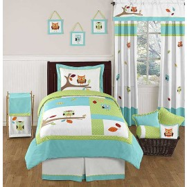 Hooty the Owl Bedding Set - 4 Piece Twin Size By Sweet Jojo Designs