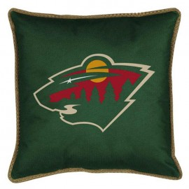 "Minnesota Wild Sideline Pillow - 17"" X 17"""
