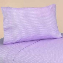 Lavender Mod Dots Twin Size Sheet Set