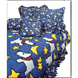 Moon Doggie Royal Blue Scotty Print (large print) Bunkbed Hugger Comforter by California Kids (Clearance)