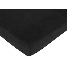 Minky Dot Black Crib Sheet - Black Microsuede