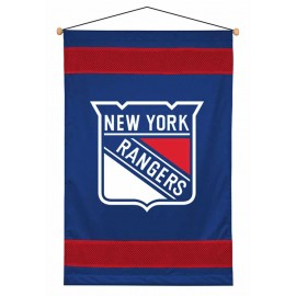 New York Rangers Sideline Wall Hanging - 28 X 45