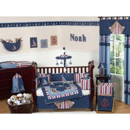Nautical Nights Crib Bedding Set by Sweet Jojo Designs - 9 piece