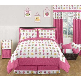 Happy Owl Comforter Set - 3 Piece Full/Queen Size By Sweet Jojo Designs