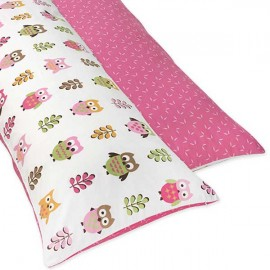Happy Owl Body Pillow Cover