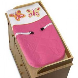 Butterfly Pink & Orange Changing Pad Cover