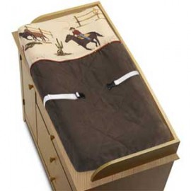 Wild West Cowboy Western Changing Pad Cover