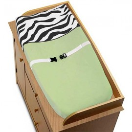Lime Green Zebra Changing Pad Cover