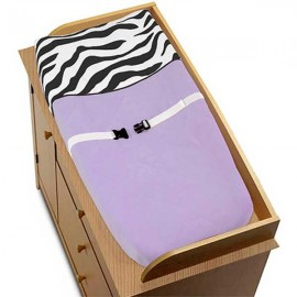 Purple Zebra Changing Pad Cover