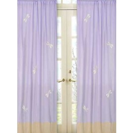 Lavender Dragonfly Dreams Window Panels