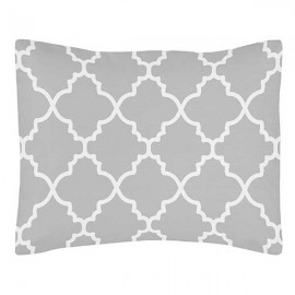 Gray & White Trellis Pillow Sham