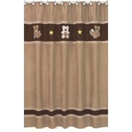 Teddy Bear Chocolate Shower Curtain