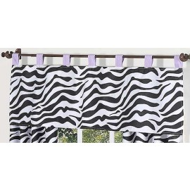 Purple Zebra Valance