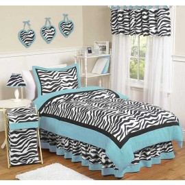Blue Zebra Comforter Set - 3 Piece Full/Queen Size By Sweet Jojo Designs