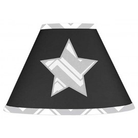 Zig Zag Black & Gray Chevron Print Lamp Shade