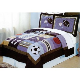 All State Sports Quilt and Sham Set - Full/Queen Size