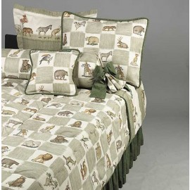 Animal Kingdom Twin Size Bunk Bed Hugger Comforter by California Kids - Clearance