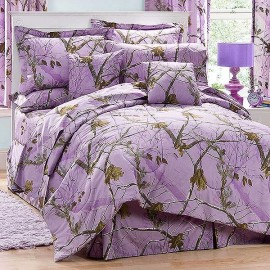 AP Lavender Camouflage Comforter Set - Twin Size