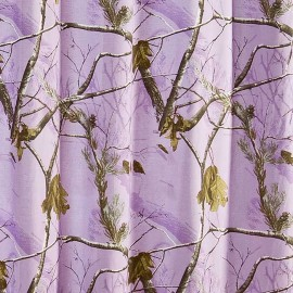 AP Lavender Camouflage Shower Curtain