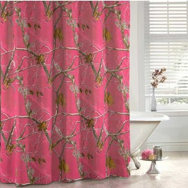 AP Fuchsia Camouflage Shower Curtain