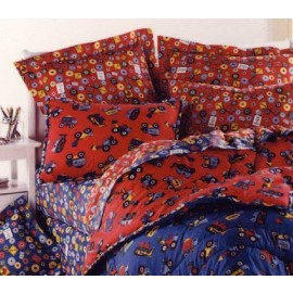 Big Wheels Comforter by California Kids (Blue Truck Print)