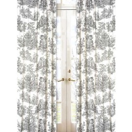 Black French Toile Window Panels