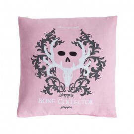 Bone Collector Pink/Grey Square Pillow - Choose Pink or Grey