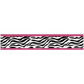 Hot Pink Zebra Border