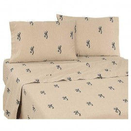 Browning Buckmark Sheet Set - Extra Long Twin Size for Dorm Rooms