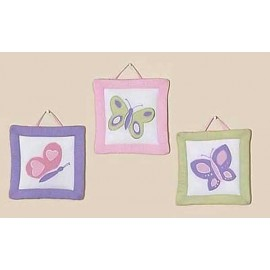 Butterfly Pink & Lavender Wall Hanging