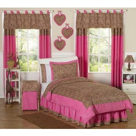 Cheetah Pink Animal Print Bedding Set - 3 Piece Full/Queen Size By Sweet Jojo Designs
