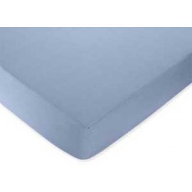 Come Sail Away Crib Sheet - Solid Blue