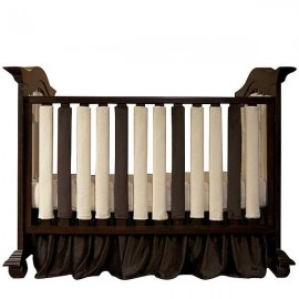 Wonder Bumper Vertical Crib Liners - Cream & Chocolate Brown - 2 Pack