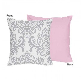 Pink & Gray Elizabeth Accent Pillow