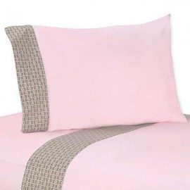Elephant Pink & Taupe Sheet Set