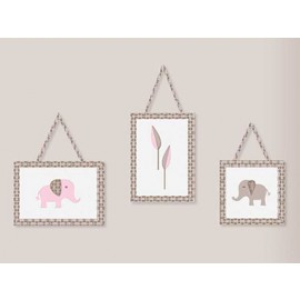 Elephant Pink & Taupe Wall Hanging