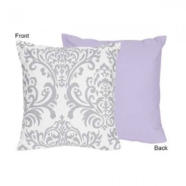 Lavender & Gray Elizabeth Accent Pillow