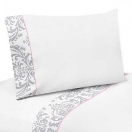 Pink & Gray Elizabeth Twin Size Sheet Set