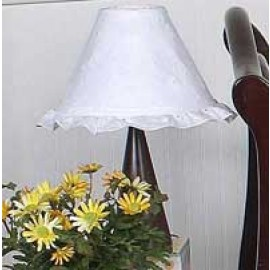 White Eyelet Lamp Shade