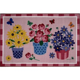 Fun Rugs Blossoms & Butterflies Rug by Olive Kids