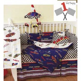 Fascar 4 Piece Standard Crib Bedding Set by California Kids