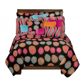 Flower Fantasy Comforter and Sham Set - Full Size