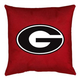 Georgia Bulldogs Locker Room Toss Pillow - 18 X 18