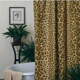 Giraffe Print Shower Curtain