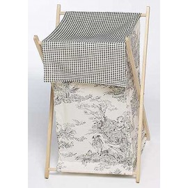 Black French Toile Hamper