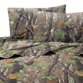 Realtree Hardwoods Camo Sheet Set - King Size