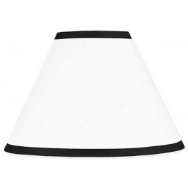 Hotel White & Black Lamp Shade