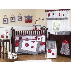 Little Ladybug Crib Bedding Set by Sweet Jojo Designs - 9 piece