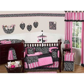 Madison Crib Bedding Set by Sweet Jojo Designs - 9 piece
