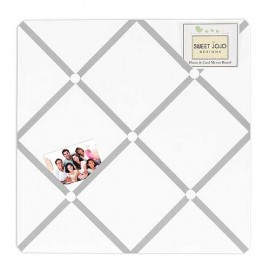 Diamond Gray & White Fabric Memo Board